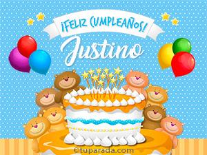Tarjetas de  Justino