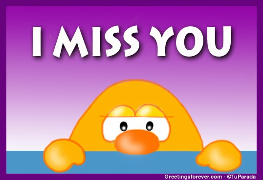 Ecard - I miss you