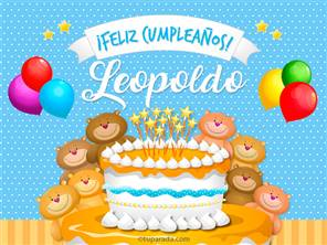 Tarjetas, postales: Leopoldo