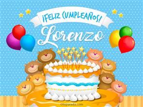 Cumpleaños de Lorenzo