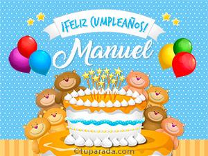 Tarjetas de  Manuel