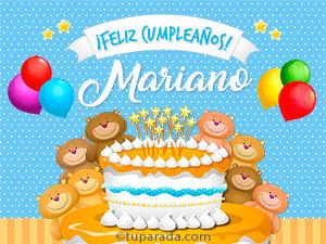 Tarjetas de Mariano