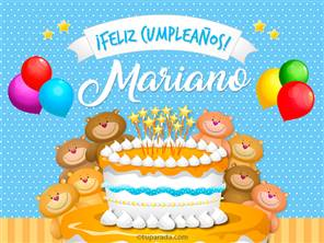 Tarjetas, postales: Mariano