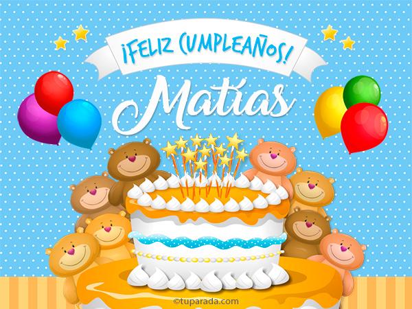Tarjeta - Cumpleaños de Matías