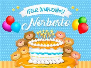 Tarjetas, postales: Norberto