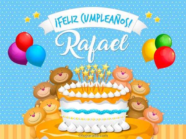 Tarjeta - Cumpleaños de Rafael
