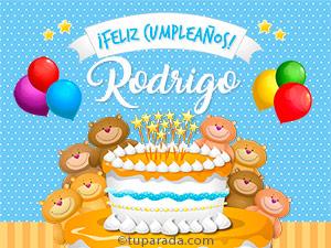 Tarjetas de  Rodrigo