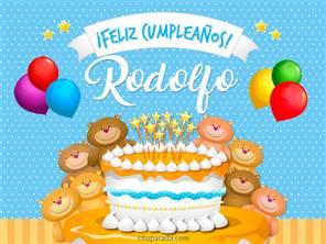 Tarjetas, postales: Rodolfo