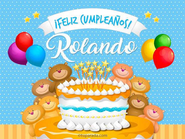 Tarjeta - Cumpleaños de Rolando