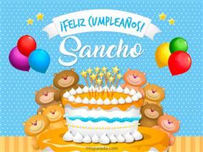 Tarjetas, postales: Sancho