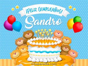 Tarjetas de Sandro