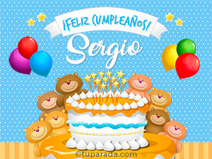 Tarjetas de  Sergio