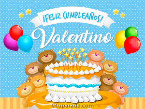 Tarjetas de  Valentino