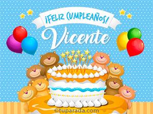 Tarjetas de  Vicente