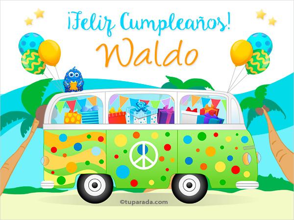 Tarjeta - Nombre Waldo