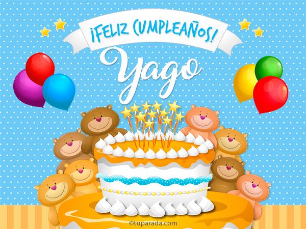 Tarjeta - Cumpleaños de Yago