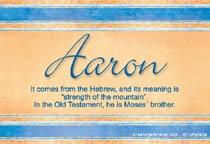 Name Aaron