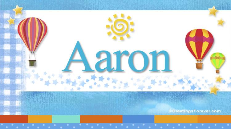 Aaron, imagen de Aaron