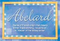 Name Abelard