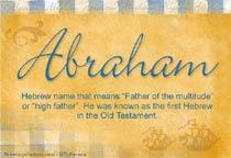 Name Abraham