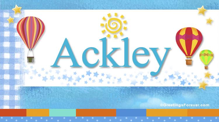 Ackley, imagen de Ackley