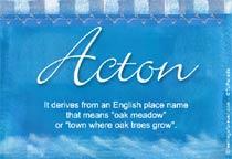 Name Acton