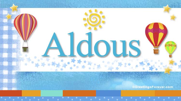Aldous, imagen de Aldous