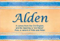 Name Alden