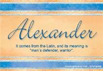 Name Alexander