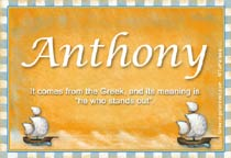 Name Anthony