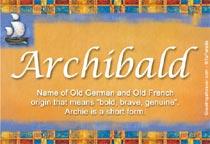 Name Archibald