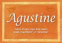 Name Agustine
