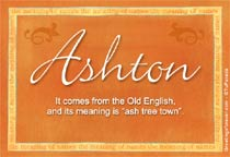 Name Ashton