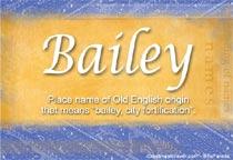 Name Bailey