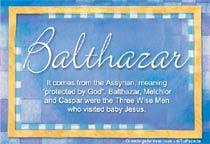 Name Balthazar