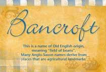 Name Bancroft