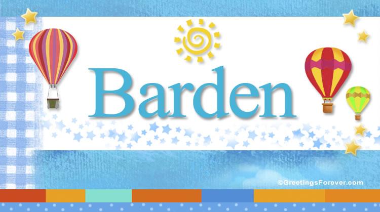 Barden, imagen de Barden