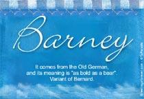 Name Barney