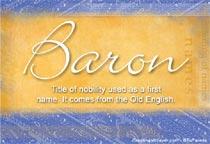 Name Baron