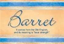Name Barret
