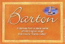 Name Barton