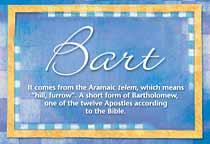 Name Bart