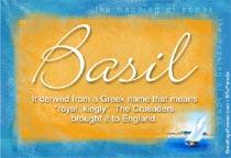 Name Basil