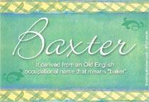 Name Baxter