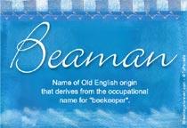 Name Beaman