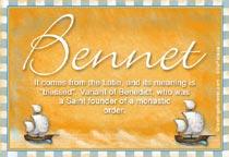 Name Bennet