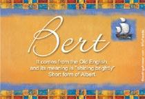Name Bert