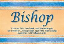 Name Bishop
