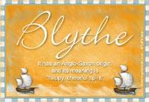 Name Blythe