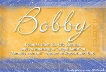 Name Bobby